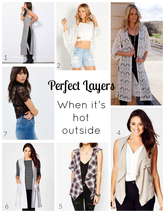 How To Wear Layers When It S Hot Outside Styled By Bec
