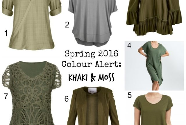 khaki and moss spring 2016 colour alert