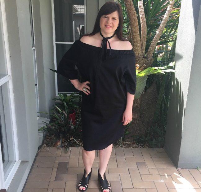 Adrift Black Bell Dress