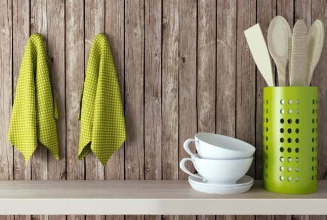 add art to your kitchen using tea towels