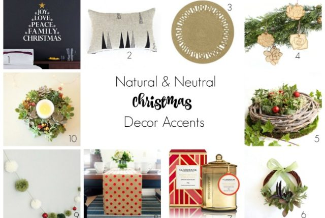 neutral and natural christmas styling