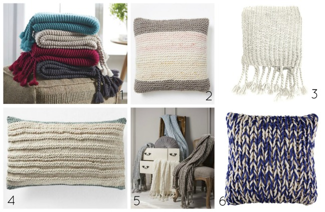chunky knit homewares to buy 2017