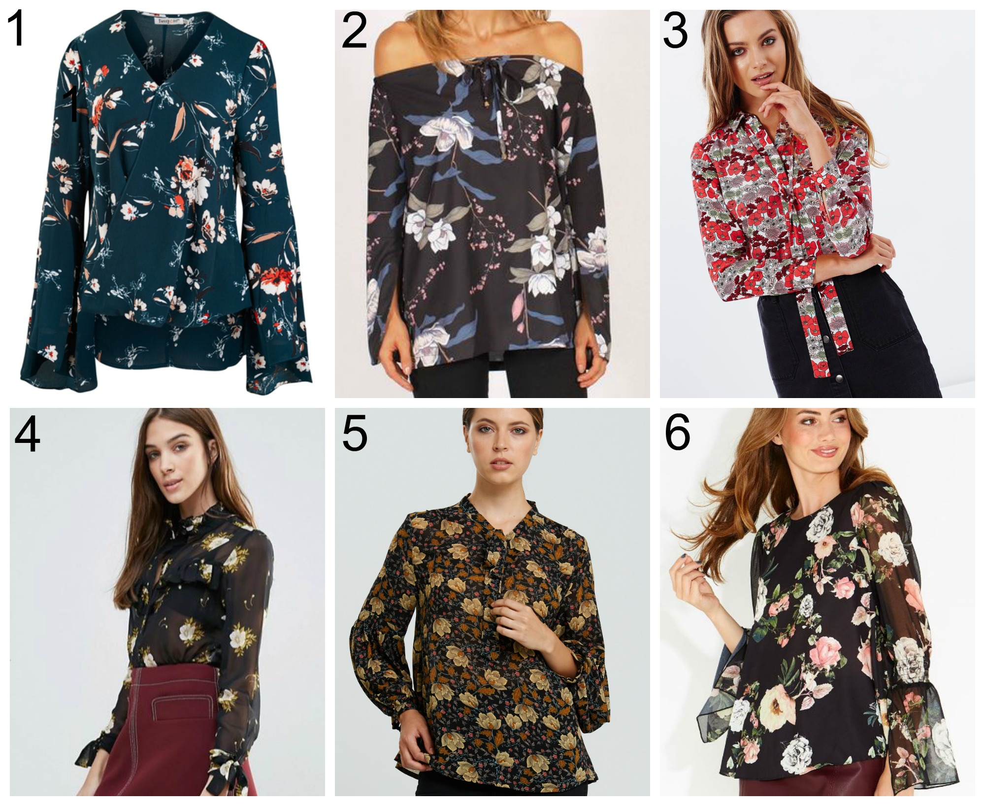 floral blouses for winter 2017