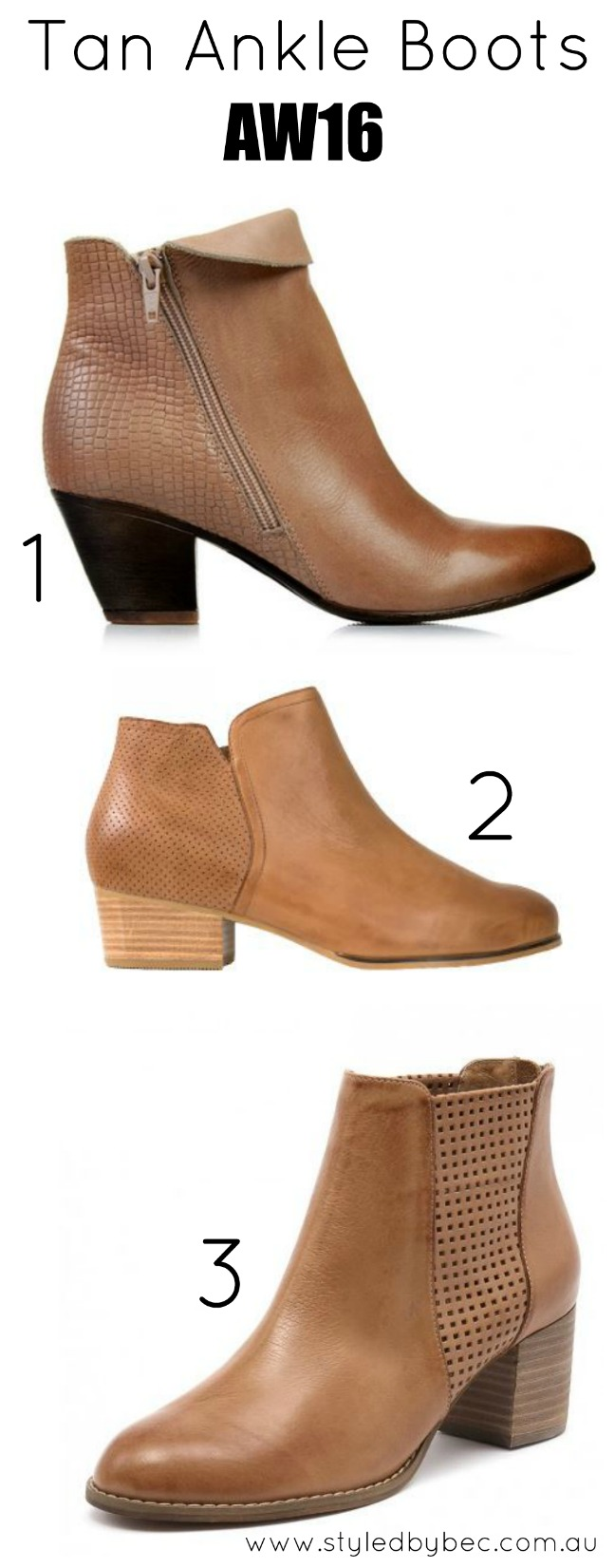 tan ankle boots 2017