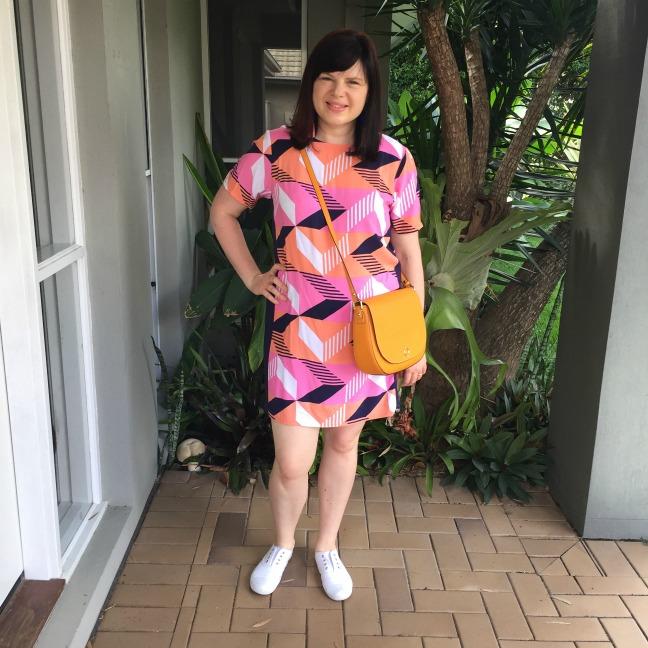 bec with oroton orange satchel bag