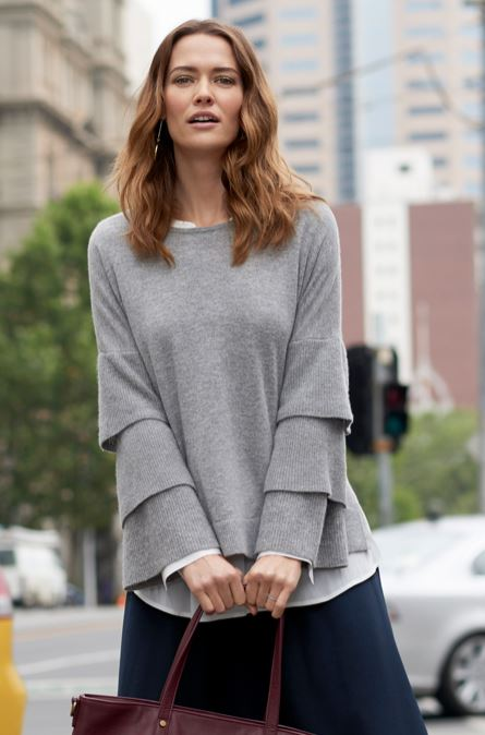 sussan tiered sleeve pull over