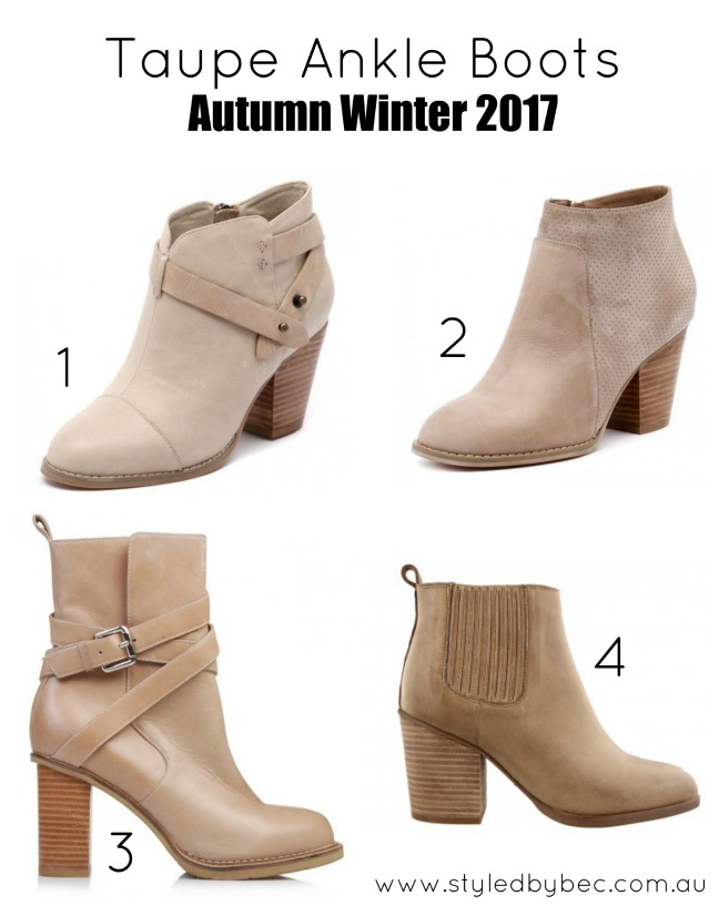 taupe ankle boots 2017