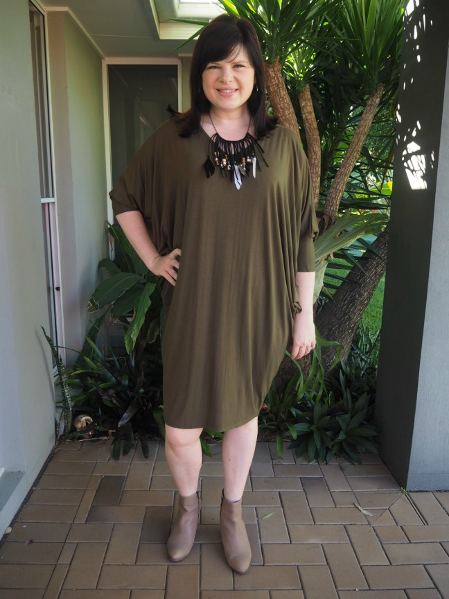 khaki miracle dress