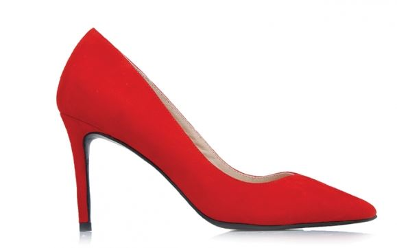 Jo Mercer Red Suede Heels