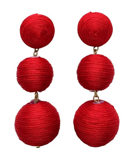 Red earrings ruby olive