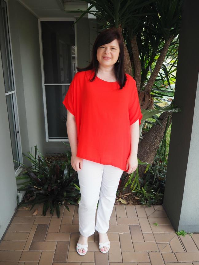 wardrobe 22 boho top red