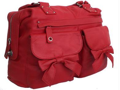 3annies red handbag