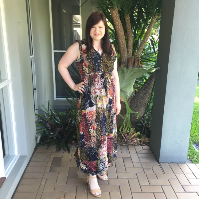 Tropical Print Maxi Dress