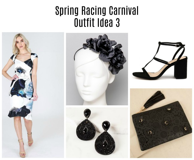 floral spring racing carnival outfit idea 3