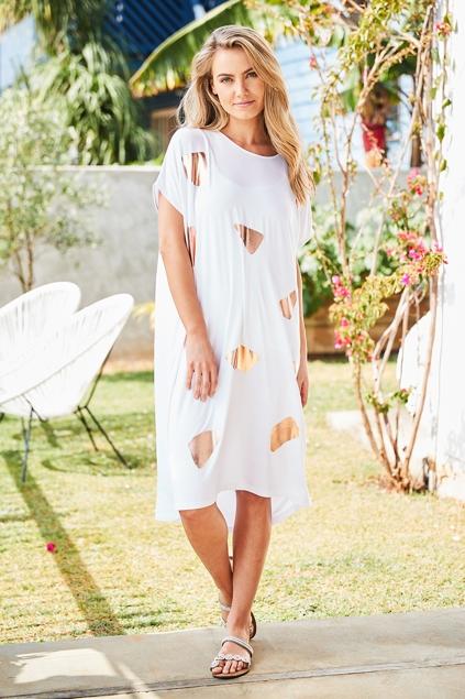 Tirelli foil dress