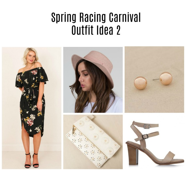 floral spring racing carnival outfit idea 2