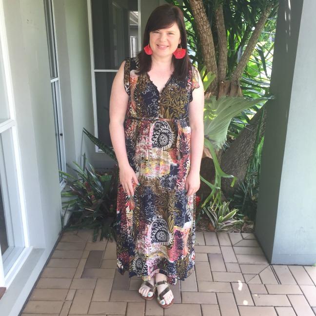 leaf print dress from wardrobe 22