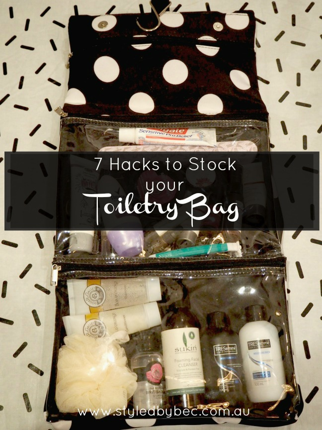 7 hacks to stock your toiletry bag pin