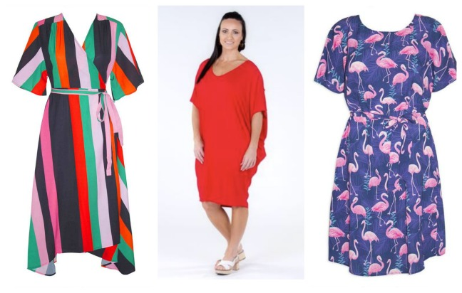 Bright print dresses perfect for TV