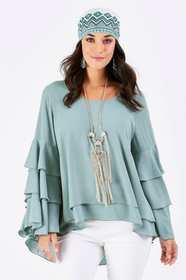 Duck Egg Blue Blouse